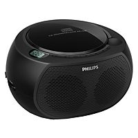 Philips bærbar CD-spiller AZ100 med analog FM-tuner og MP3-link for bærbar musikkavspilling.