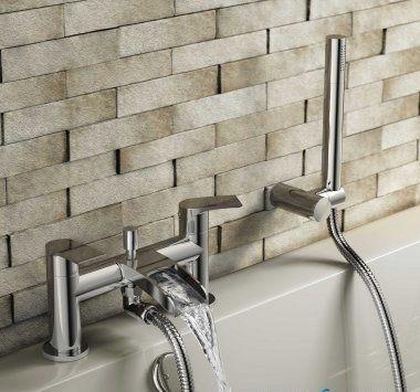 Avis Waterfall Bath Shower Mixer Tap with Hand Held Shower Head [PT-TB153] - £106.49 : Platinum Taps & Bathrooms