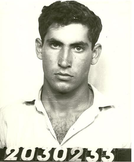 Modern King David: VERY HANDSOME young Benjamin Netanyahu the day he enlisted in the IDF in 1967. He trained as a combat soldier and became a team leader in the elite special forces unit, Sayeret Matkal.