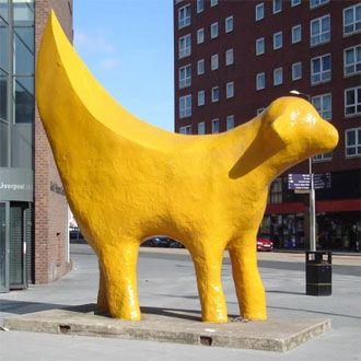 lamb banana in Liverpool, England #placesihavebeen #therearemanylambsaroundthecity #ihaveseenthisone2