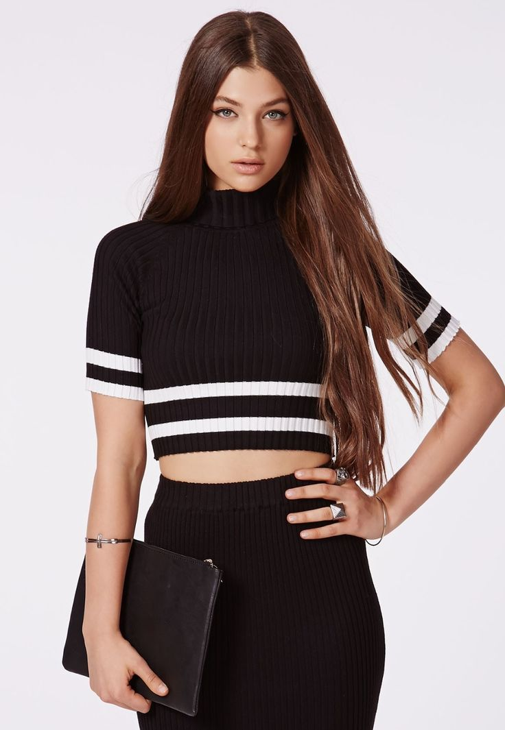 Find More Pullovers Information about Winter Latest Arrival Guinevere Rib Stripe Crop Top Black,High Quality rib boats for sale,China top epilator Suppliers, Cheap top brand names fashion from Big Little Boutique on Aliexpress.com