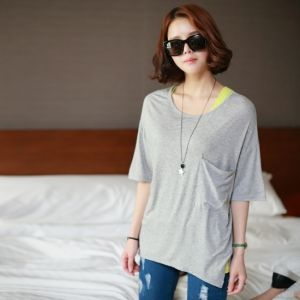Marion Round Big Pocket Tee / Size : Free / Price : 12.23 USD