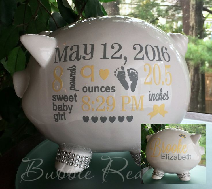 141 best great gifts images on pinterest personalized piggy bank personalized piggy bank baby birth stats gift baby girl piggy bank baby girl negle Image collections