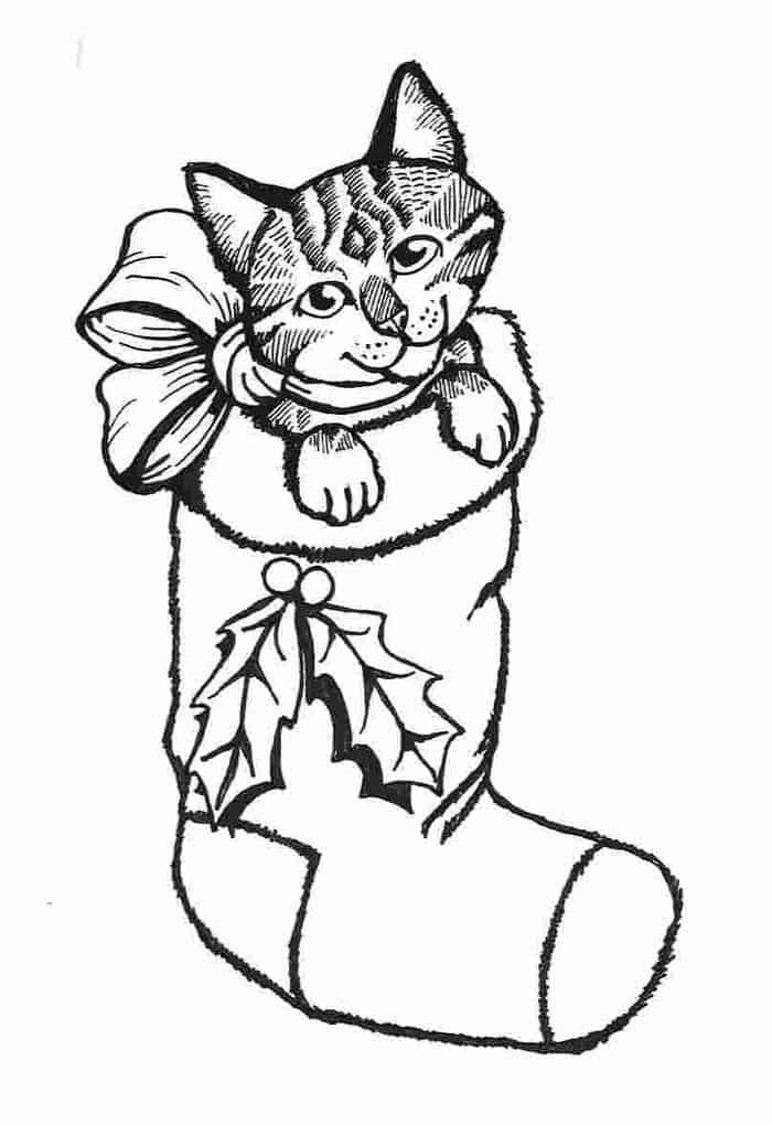 Christmas Puppy Coloring Pages Printable Kitty Coloring Puppy Coloring Pages Cat Coloring Page