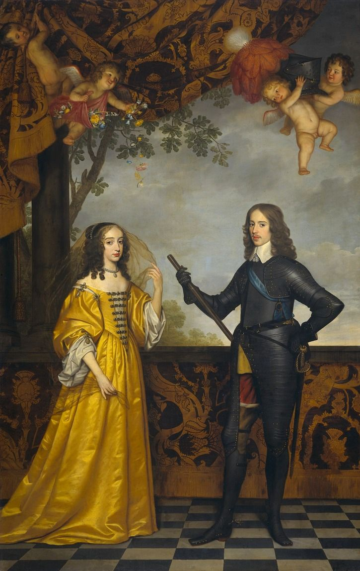 1647 Willem II, Prince of Orange and Maria Stuart by Gerrit van Honthorst (Rijksmuseum - Amsterdam, Holland)