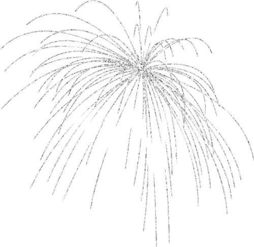 Silver firework