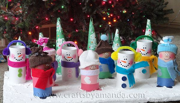 cardboard-tube-children-snowmen.jpg (600×346)