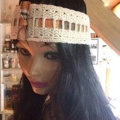 Tour de tête  - bandeau tricot fait main - mode . ref: 154