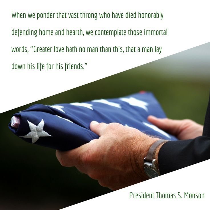 """The feelings of heartfelt gratitude for the supreme sacrifice made by so many cannot be confined to a Memorial Day, a military parade, or a decorated grave."" From #PresMonson's http://pinterest.com/pin/24066179228814793 inspiring #LDSconf http://facebook.com/223271487682878 message http://lds.org/general-conference/1992/04/an-attitude-of-gratitude #ShareGoodness"