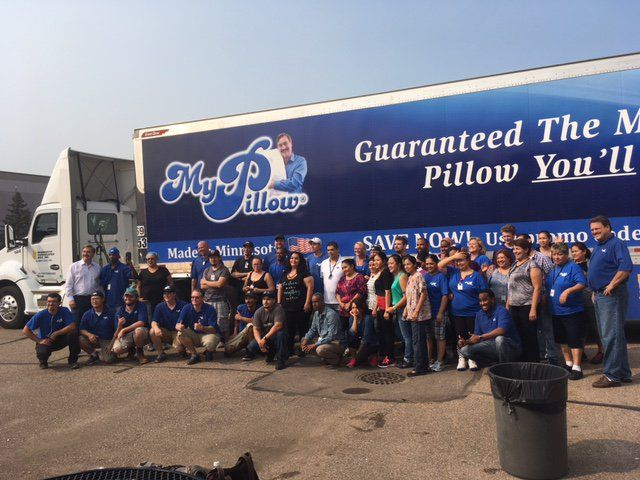 BRIAN FRASER @bfraser747 3h3 hours ago  A HUGE THANK YOU again to all the wonderful people at @MyPillowUSA & @realMikeLindell for sending 60K pillows to #HurricaneHarvey victims. https://twitter.com/