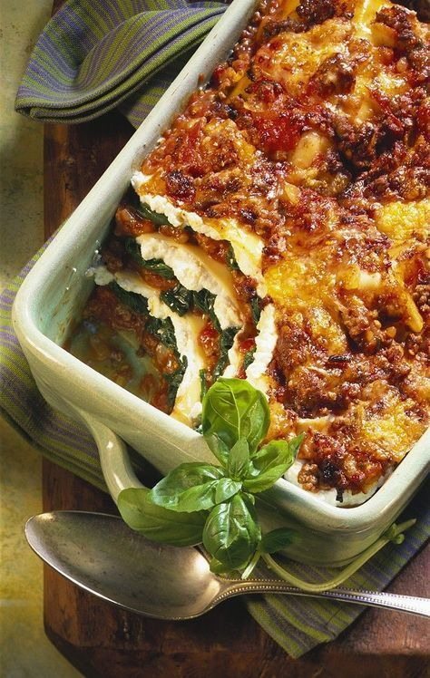 Lasagna with ricotta and spinach   – Rezept