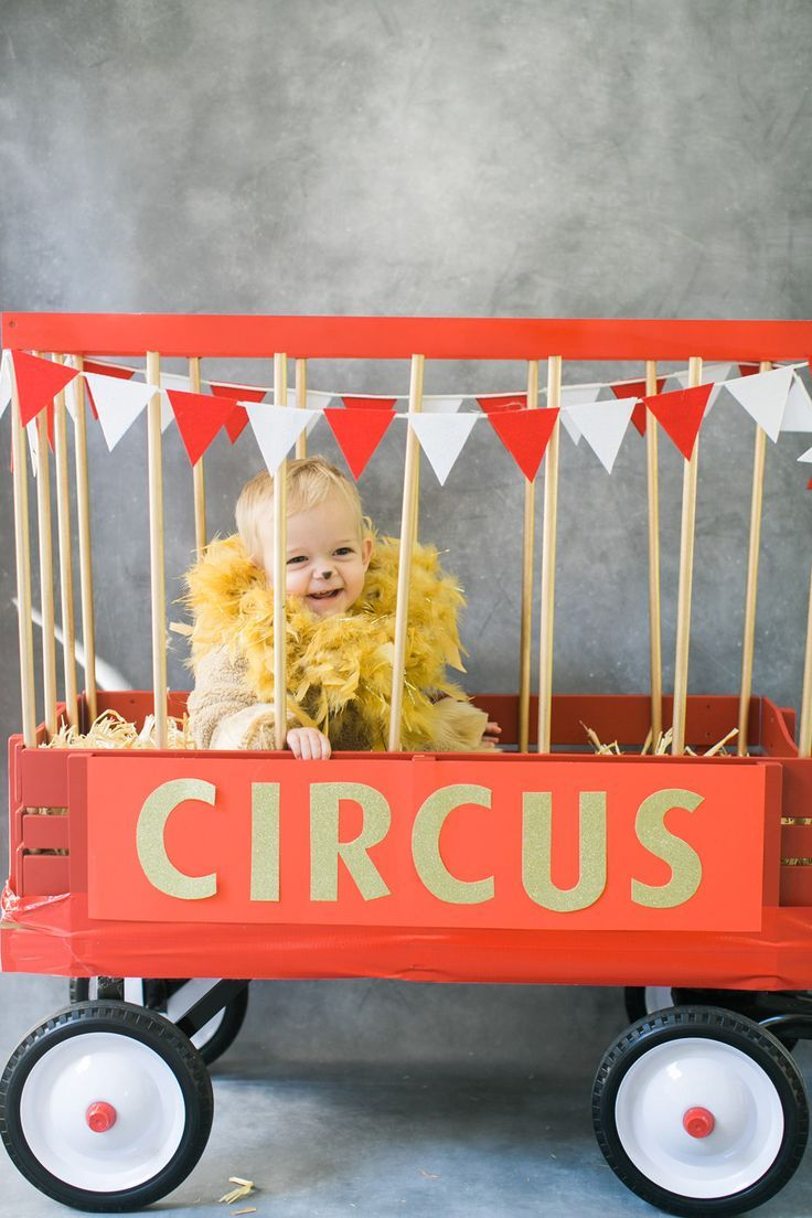 Adorable stroller/wagon costume for toddlers who want to join along in trick-or-treat