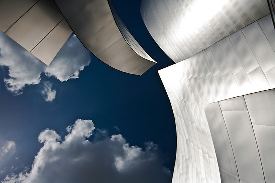 Gas and Solids By PhotosbyFlood, abstract from Disney Music Center, Architect Frank Gehry LA CA