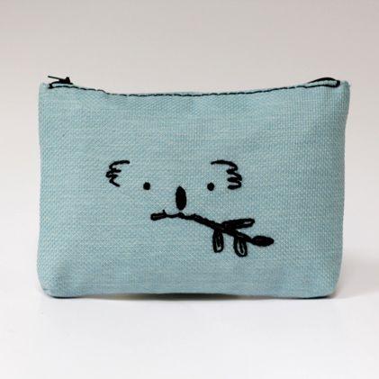 Koala mavi makyaj çantası