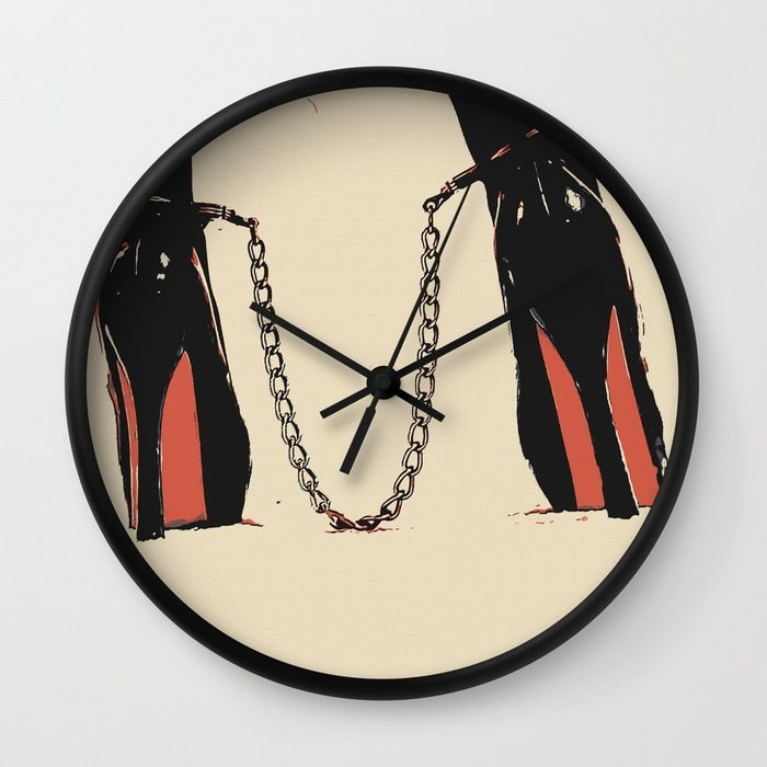 "Dirty Girls, dirty play, dirty toys 3 Wall Clock Available in natural wood, black or white frames, our 10"" diameter unique #Wall #art #Clocks feature a high-impact plexiglass crystal face and a backside hook for easy hanging. Choose black or white hands to match your wall clock frame and art design choice. Clock sits 1.75"" deep and requires 1 AA battery (not included)."
