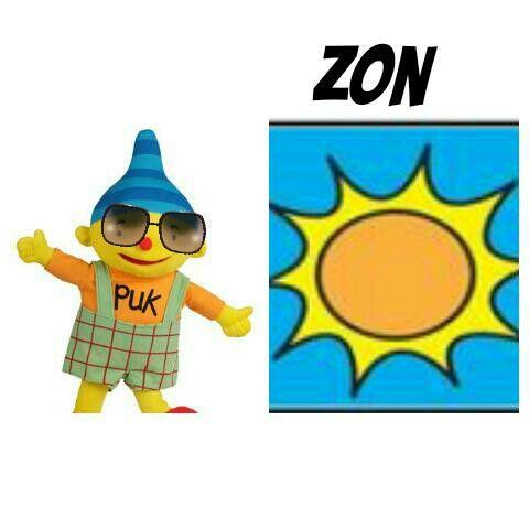 Weerkaart puk zon