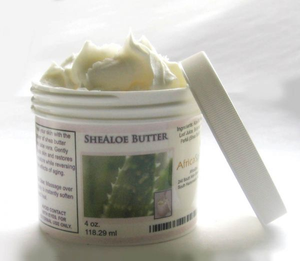 shealoe for moisture for fine natural hair: 50% shea butter, 50% aloe vera gel