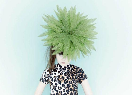 Stylish Plants make the perfect head accessory