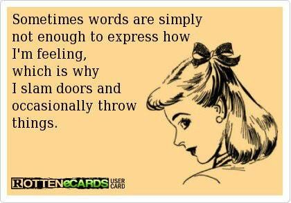 Yeah, I need to work on not being so hateful when I'm mad lol