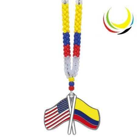 Necklaces -COLOMBIA  USA FLAG- >>> See this great product.