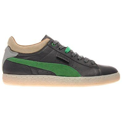 Amazon.com | Stepper Mens (Burn Rubber Co-Lab) in Castlerock/Quarry/Fern Green by Puma, 10.5 | Fashion Sneakers