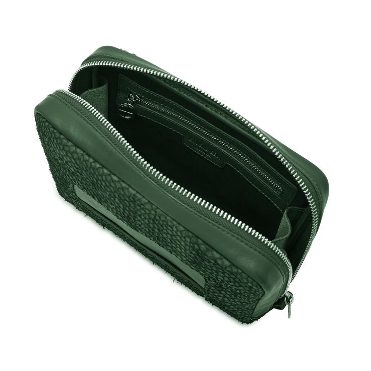 Green Lilli salmon leather shoulder bag clutch 3599