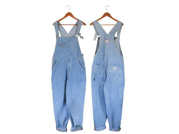 Vintage 90s Light Wash Plus Size Overalls XL Overalls Women Denim by #TheVilleVintage