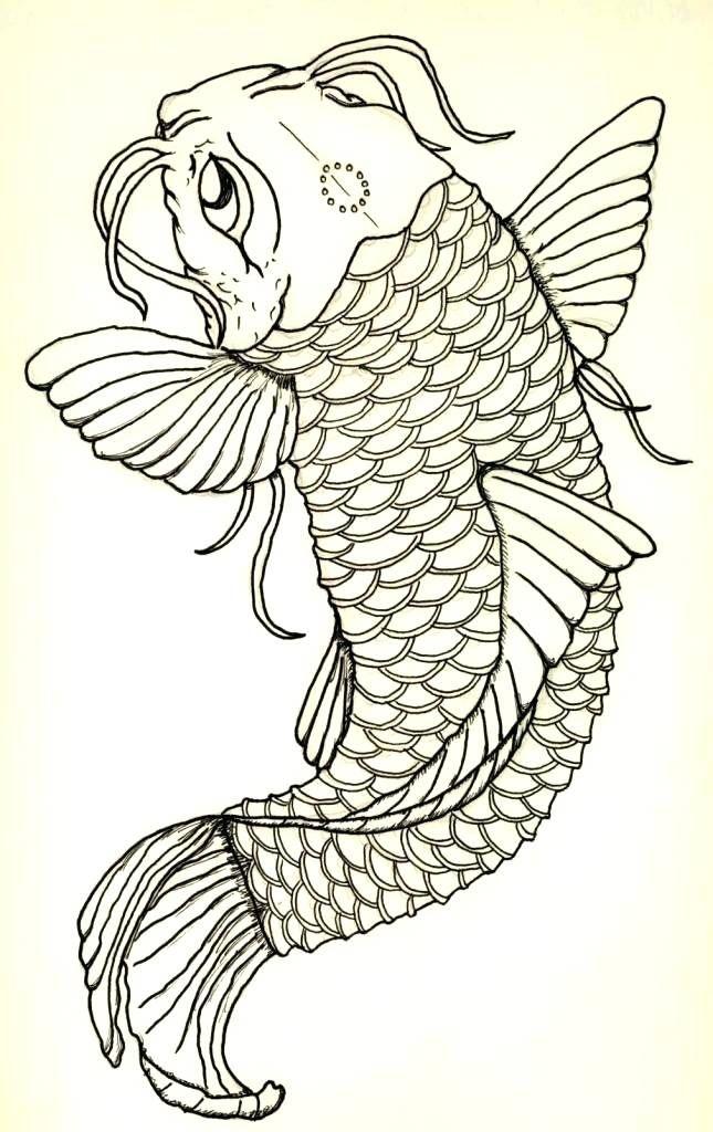 Http Halftraining Info Koi Fish Outlines Fish Outline Japanese Embroidery Koi Fish
