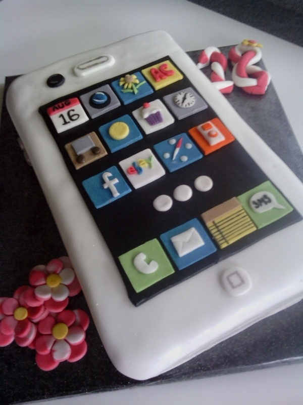 Iphone 18th birthday cake