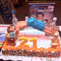 funny 21 Birthday Cakes for Boys | Guys 21st Birthday Cake Ideas