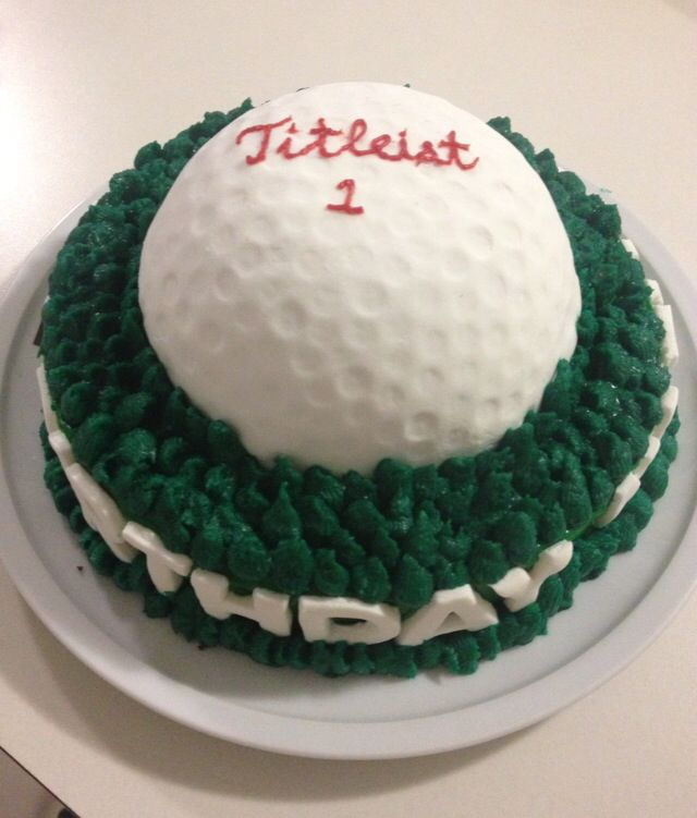 Golf Ball Birthday Cake | A cake made by an everyday person |