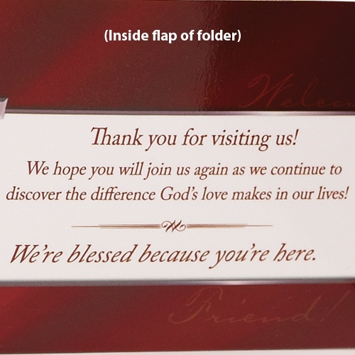 39 best church visitorguests ideas images on pinterest church church visitors welcome pocket folder brochure holder cta inc thecheapjerseys Images