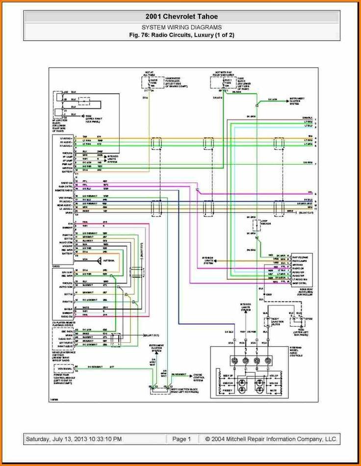 Unique 2004 Chevy Avalanche Radio Wiring Diagram In 2020