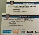 #Ticket  2 Eintrittskarten FSV Frankfurt  1860 München #deutschland