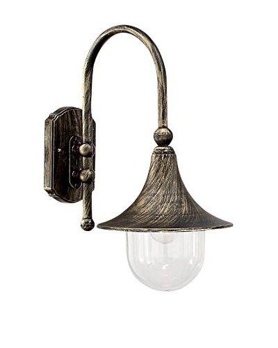 Evergreen Lichten wandlamp Outdoor zwart / goud