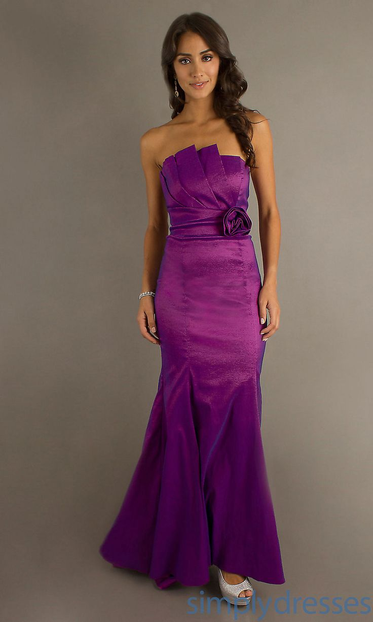 Long Strapless Prom Gown, Cheap Evening Gown - Simply Dresses