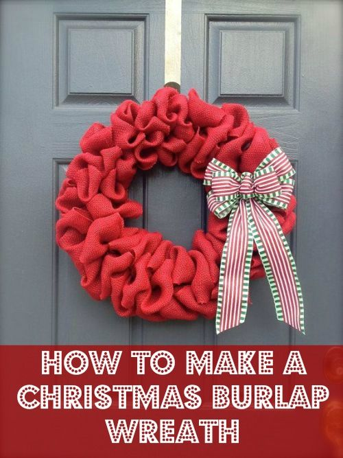 Christmas Crafts To Make With Burlap