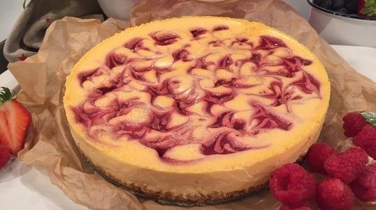 Dean's Baked Raspberry Ripple Cheesecake