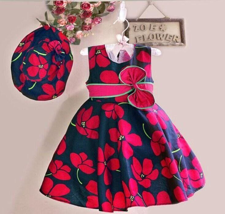 Meninas vestido de verão 2015 nova crianças roupas de menina com impressão princesa vestido de festa infantil(China (Mainland))