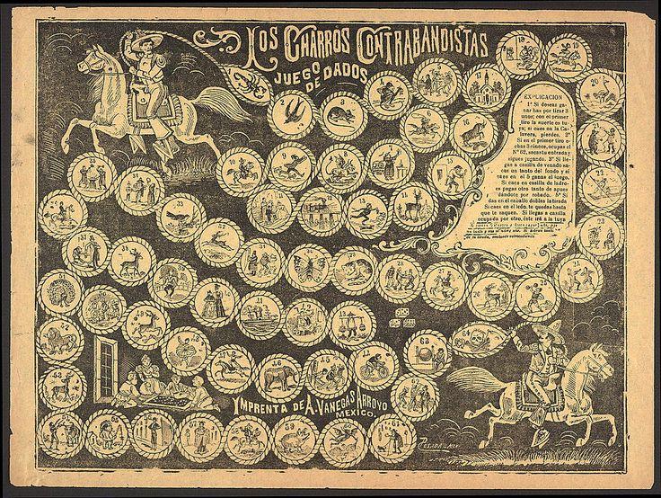 Los Charros Contrabanistas board game, c. 1900.