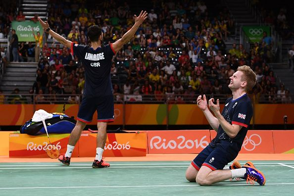 The moment when Marcus Ellis and Chris Langridge realise they are Olympic bronze medalists