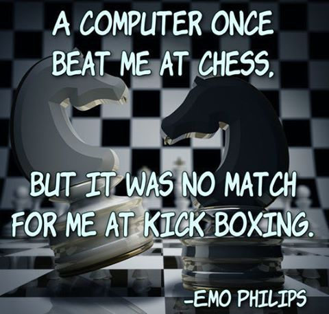 A computer beat me once at chess. But it was no match at kick boxing.  #code #coding #programs #development #javascript #java # software #php # ruby #read #write #code #coding #technology #tech #net # web #html #css