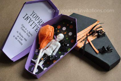 Free Printable Halloween Invitations: Unique Coffin Invites With Template