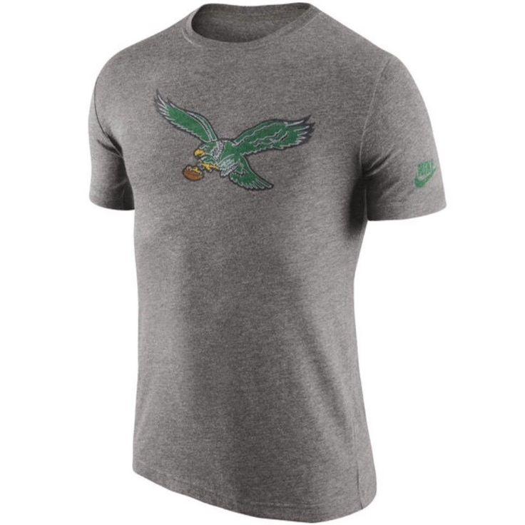 🏈 Philadelphia Eagles Nike XXL Historical Logo Heathered Tri-Blend T-Shirt $34 #Nike #PhiladelphiaEagles