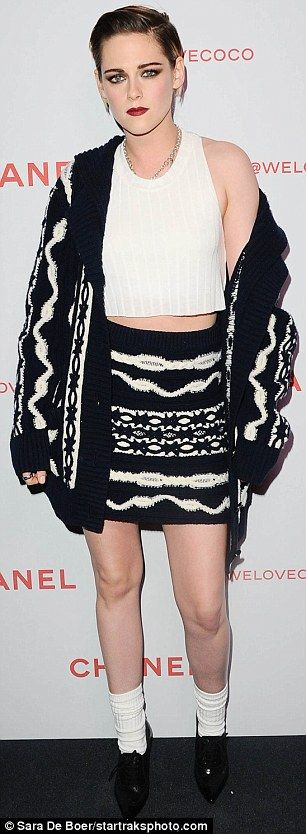 Kristen Stewart and Stella Maxwell match at Chanel party | Daily Mail Online