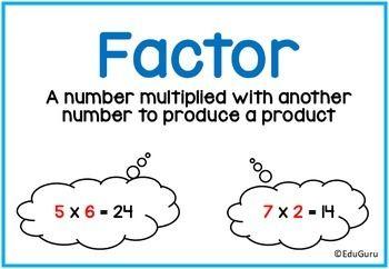 FREEBIE! High Quality A4 Mathematics Definition Posters
