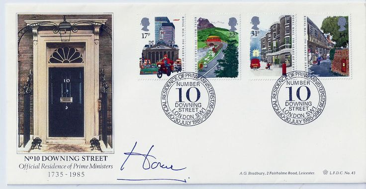 Sir Alec Douglas-Home singature on No.10 Downing Street 1985 FDC No.46 of 100
