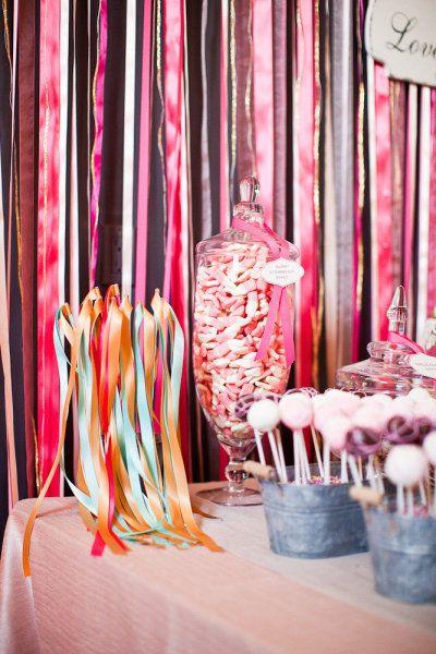 gekleurd lint achtergrond gordijn