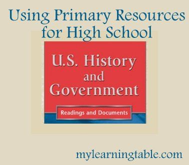 Using Primary Resources For High School History And Government  Mylearningtable.com