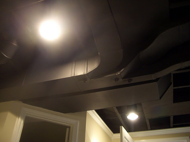 Black ceilings in a finished basement!: New Houses, Basement Ceilings, Decor Ideas, Basements Ceilings, Houses Ideas, Finish Basements, Black Ceilings, Basements Ideas, Basements Remodel